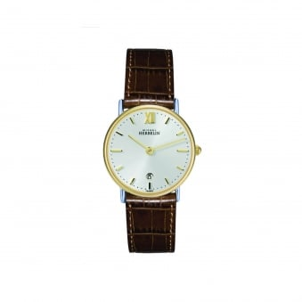 Womens Michel Herbelin Steel and Gold Plate Watch With Leather Strap 16845/T11GO