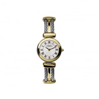 Womens Michel Herbelin Two Tone Cable Style Watch 17420/BT08