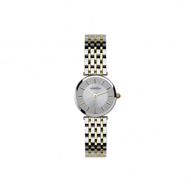 Michel Herbelin Womens Two Tone Slim Watch 1045/BT12