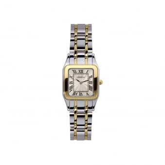 Womens Michel Herbelin Two Tone Watch With Square Face 17427/BT08