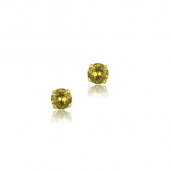 Yellow Ceylon Sapphire Stud Earrings in 9ct Yellow Gold
