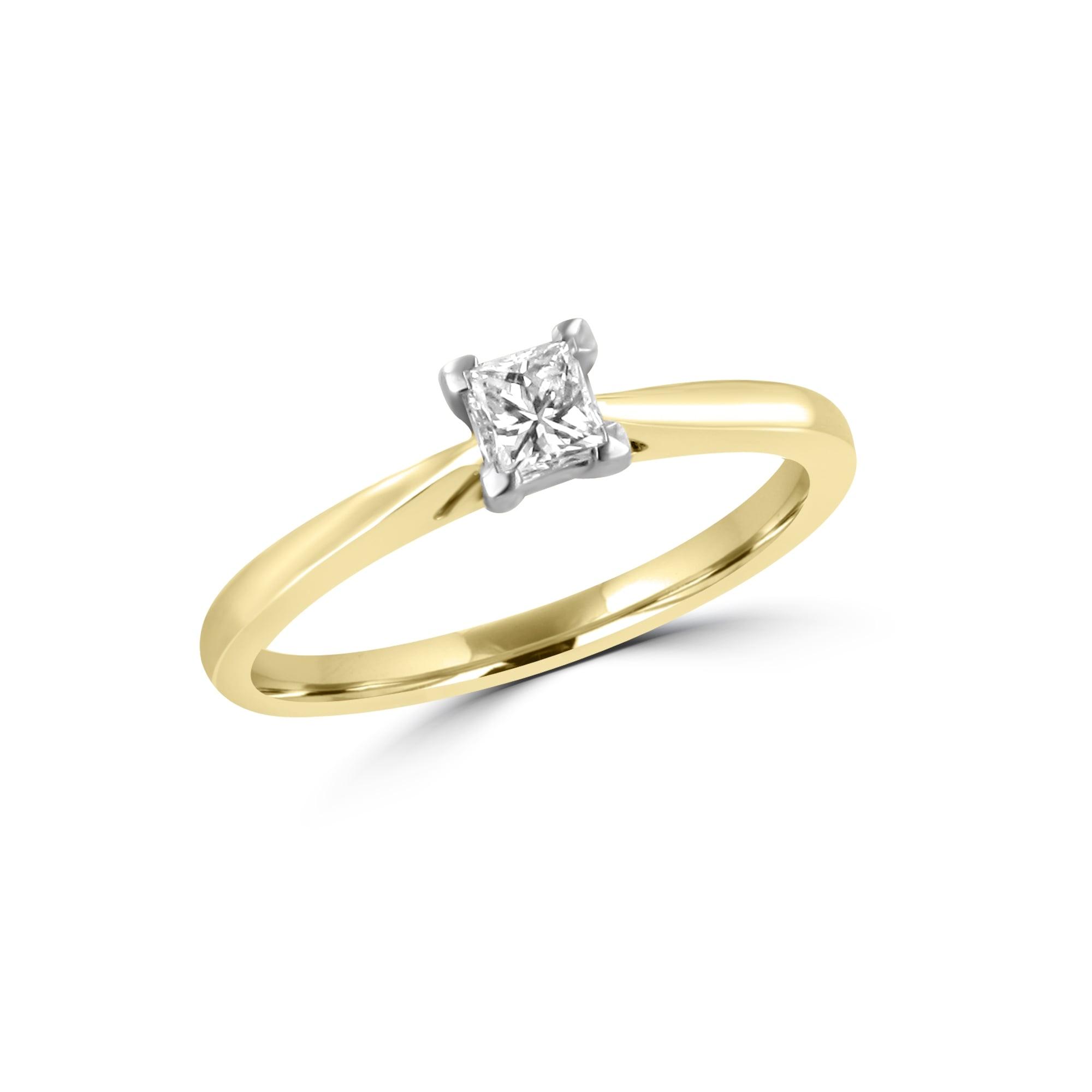 18ct Gold Princess Cut Diamond Ring Avanti Jewellers Ashbourne